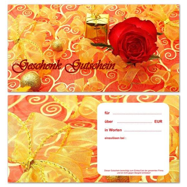 Geschenkgutscheine -Rose-