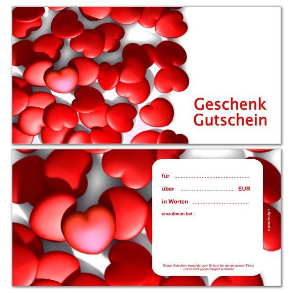 Geschenkgutscheine -Herzen-