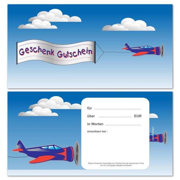 Geschenkgutscheine -Flugzeug-