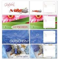 Geschenkgutscheine -Wellness Sortiment- 4-fach sortiert