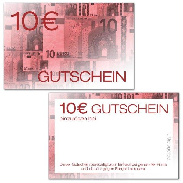 Geldgutscheine -10 €-