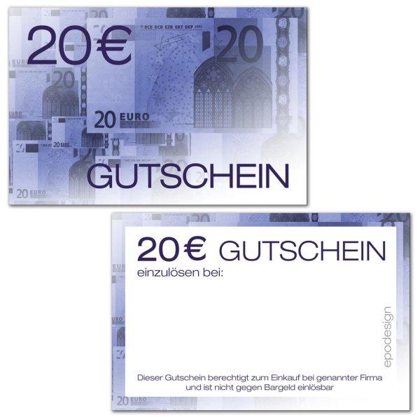 Geldgutscheine -20 €-