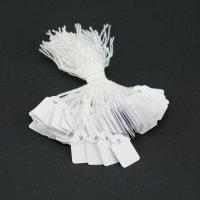 100 Hängeetiketten mit Faden 15x24 mm