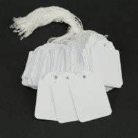 100 Hängeetiketten mit Faden 45x65 mm