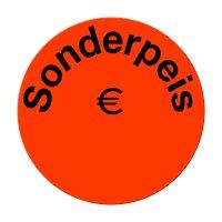 "Aktionsetiketten leuchtrot ""Sonderpreis €"" 32 mm, permanent"