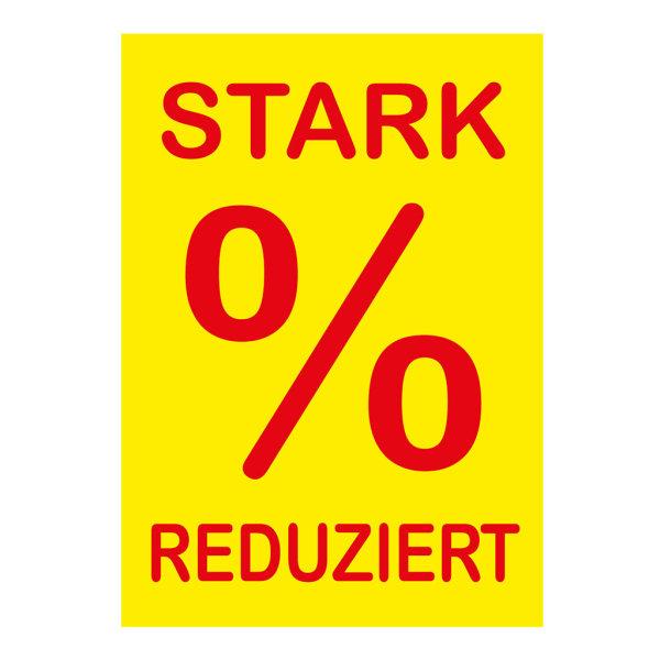 Werbeplakate DIN A4 -STARK REDUZIERT- gelb/rot