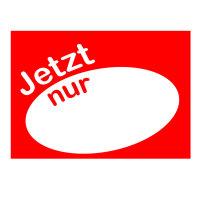 Werbeplakate DIN A4 -JETZT nur- rot/weiß, Querformat
