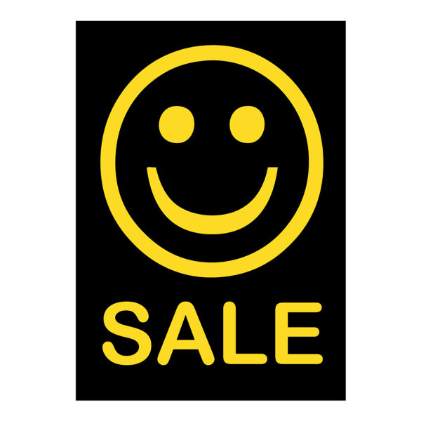 Werbeplakate DIN A4 -SALE- schwarz/gelb