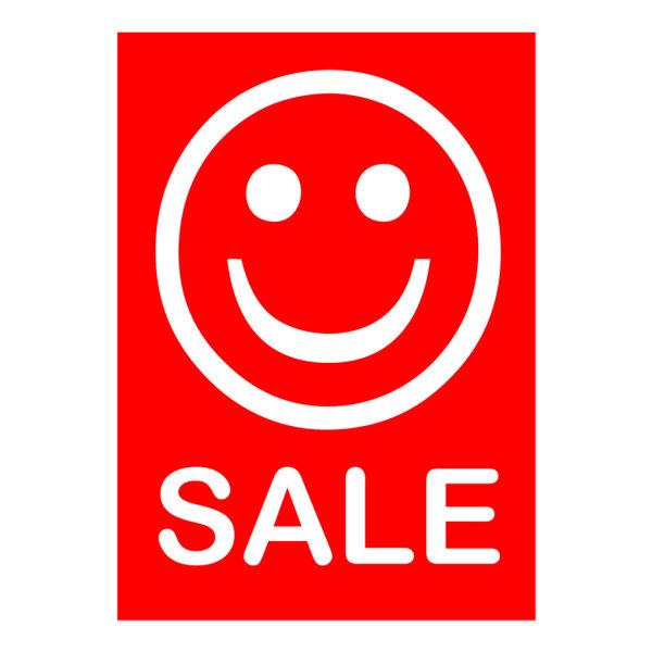 Werbeplakate DIN A4 -SALE- rot/weiß