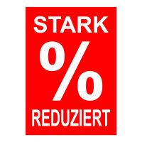 Werbeplakate DIN A4 -STARK REDUZIERT- rot/weiß