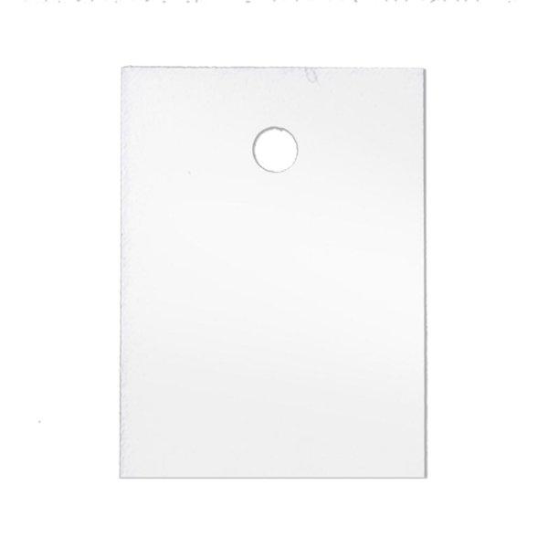 30x40 mm Kartonetiketten, einzeln geschnitten, weiß