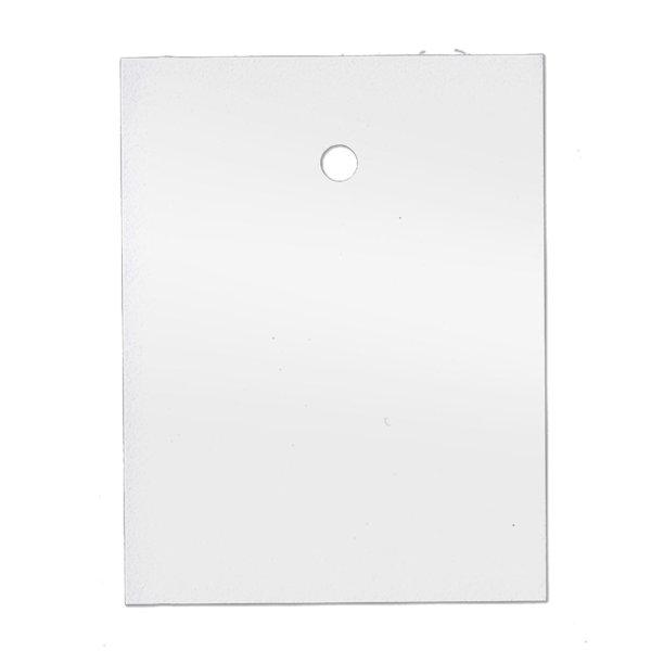 35x45 mm Kartonetiketten, einzeln geschnitten, weiß