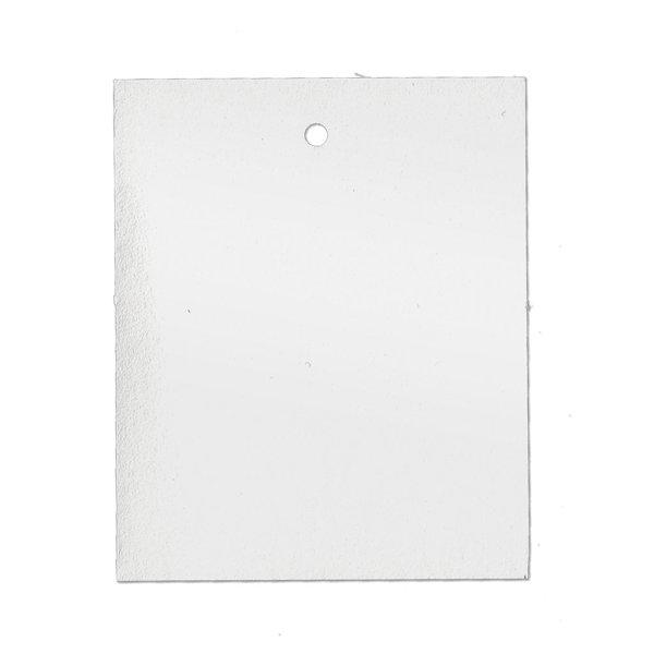 45x55 mm Kartonetiketten, einzeln geschnitten, weiß