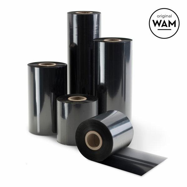"Thermotransferband 70mm x 300m, 1"", außen, Wachs -Original WAM-"