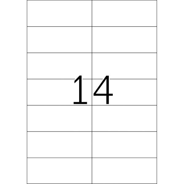 Universal Etiketten 105,0 x 42,3 mm