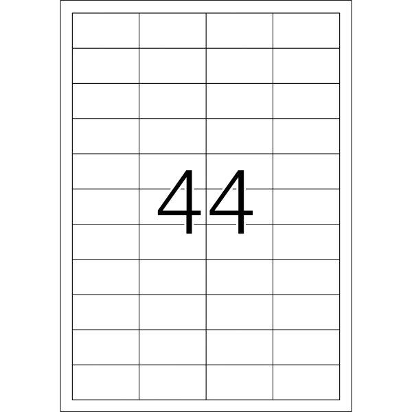 Universal Etiketten 48,3 x 25,4 mm