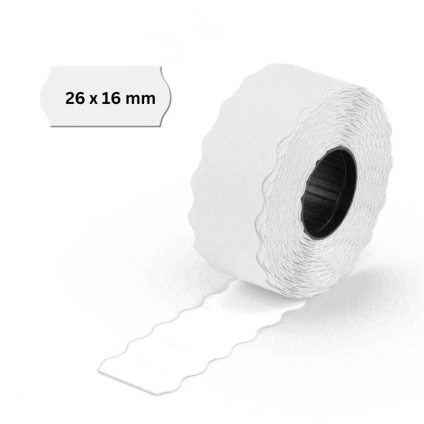 Preisauszeichner Etiketten 26x16mm weiß 2-zeilig -ablösbar