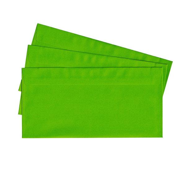 20 Briefumschläge nassklebend DIN lang, grün