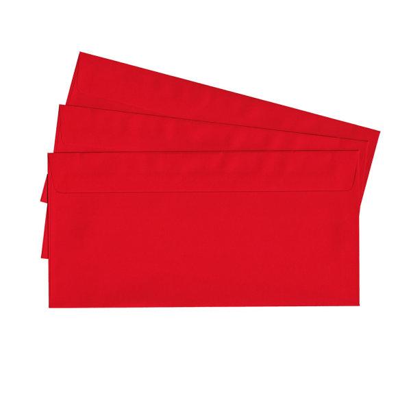 20 Briefumschläge nassklebend DIN lang, rot