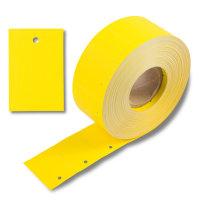 30x45 mm Kartonetiketten auf Rolle, gelb